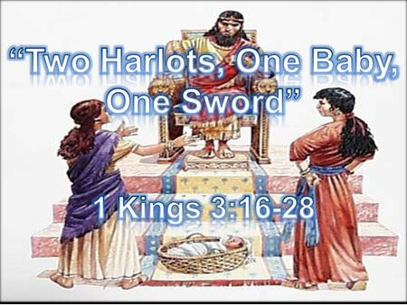 1 kings 3 16-28 clipart
