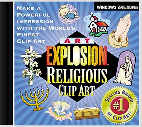 1 million professional clipart full 24 cds png black and white download Art Explosion Religious Clip Art png black and white download