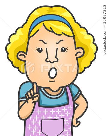 1 mom finger clipart clip freeuse download Girl Mom Discipline Finger Wag - Stock Illustration [33027218] - PIXTA clip freeuse download