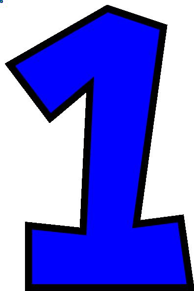 1 numeral clipart image number 1 clipart - Honey & Denim image