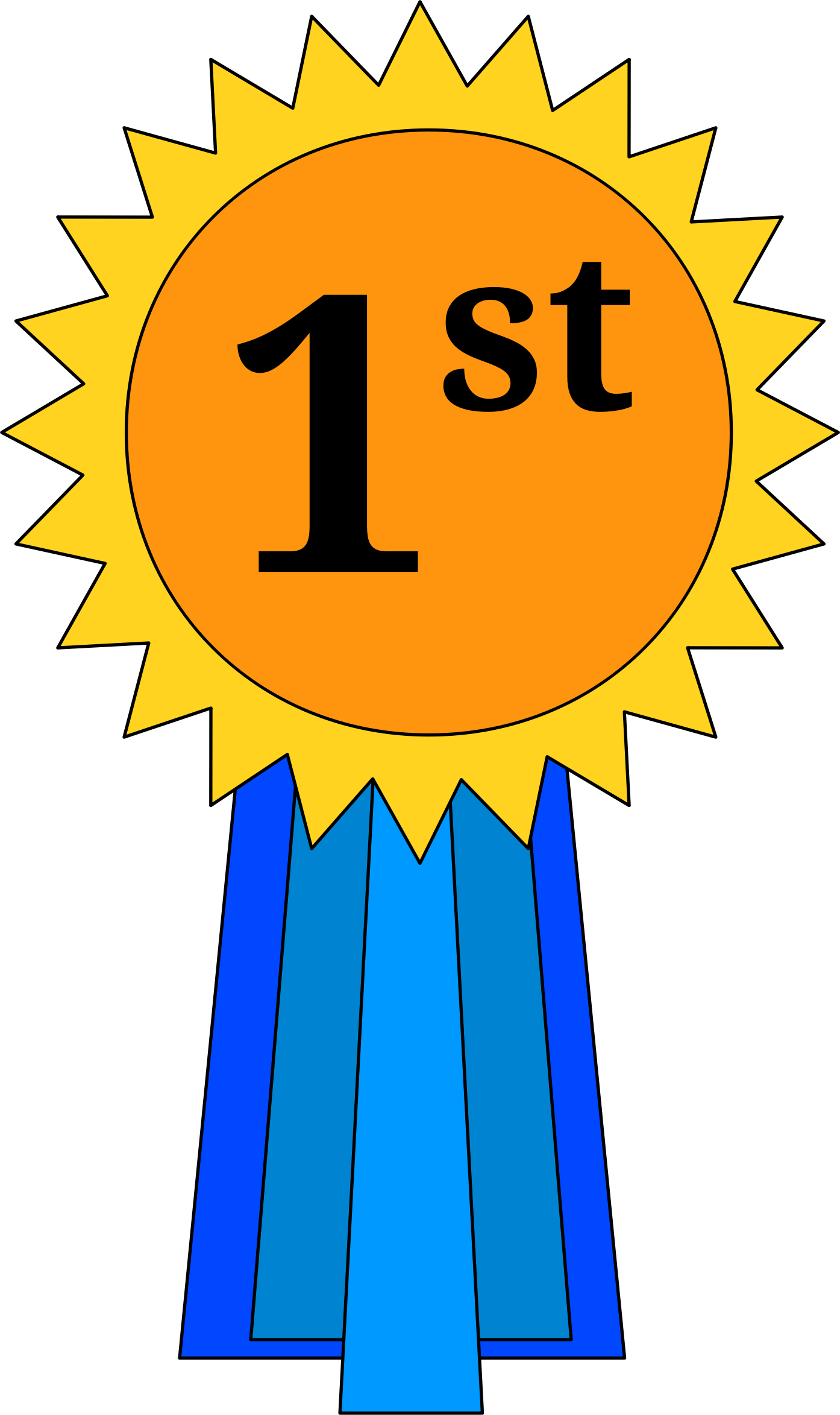 1 place ribbon clipart free stock 1st Place Ribbon by @cross37, A basic first place award ribbon, on ... free stock