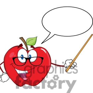 1 Teacher Apple Clipart | Clipart Panda - Free Clipart Images vector royalty free