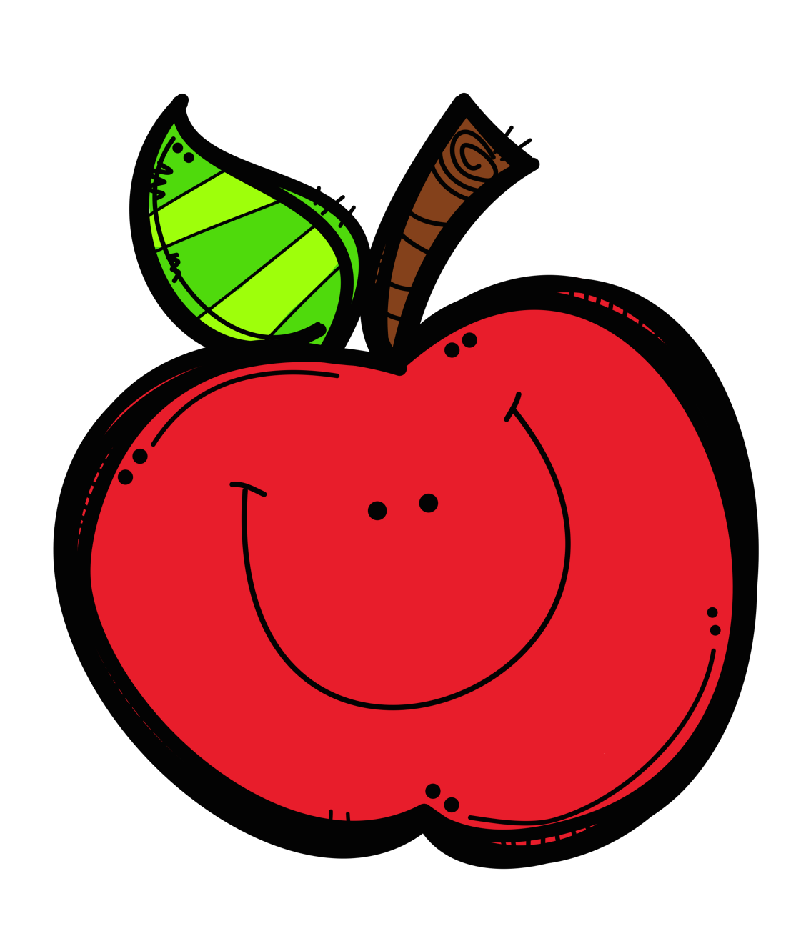 Apple for school clipart
