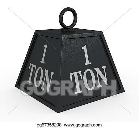 1 ton clipart jpg stock Stock Illustration - Weight. Clipart Drawing gg67358208 - GoGraph jpg stock