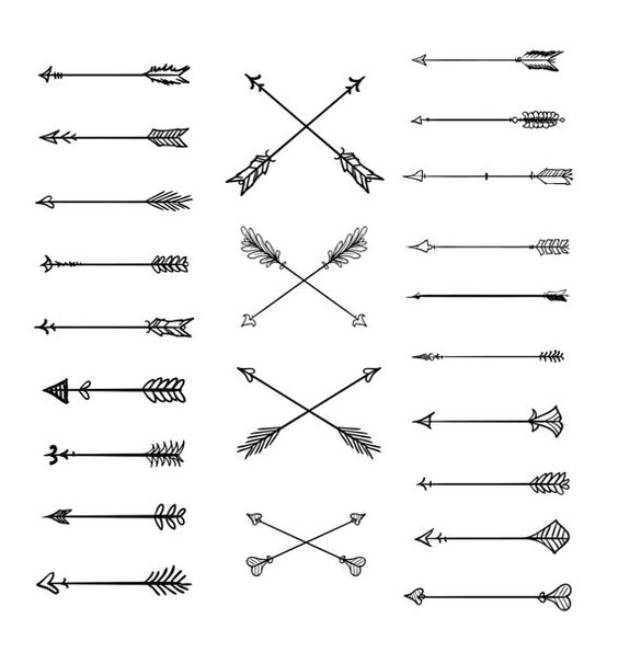 1 tribal arrow clipart graphic free stock Doodle Tribal Arrows Clipart: 23 vector arrows - hand drawn,tribal ... graphic free stock