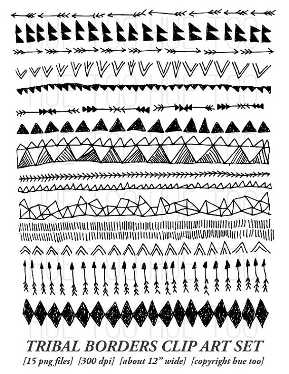 1 tribal arrow clipart clip black and white Tribal arrow border clipart - ClipartFest clip black and white