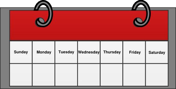 1 week calendar clipart