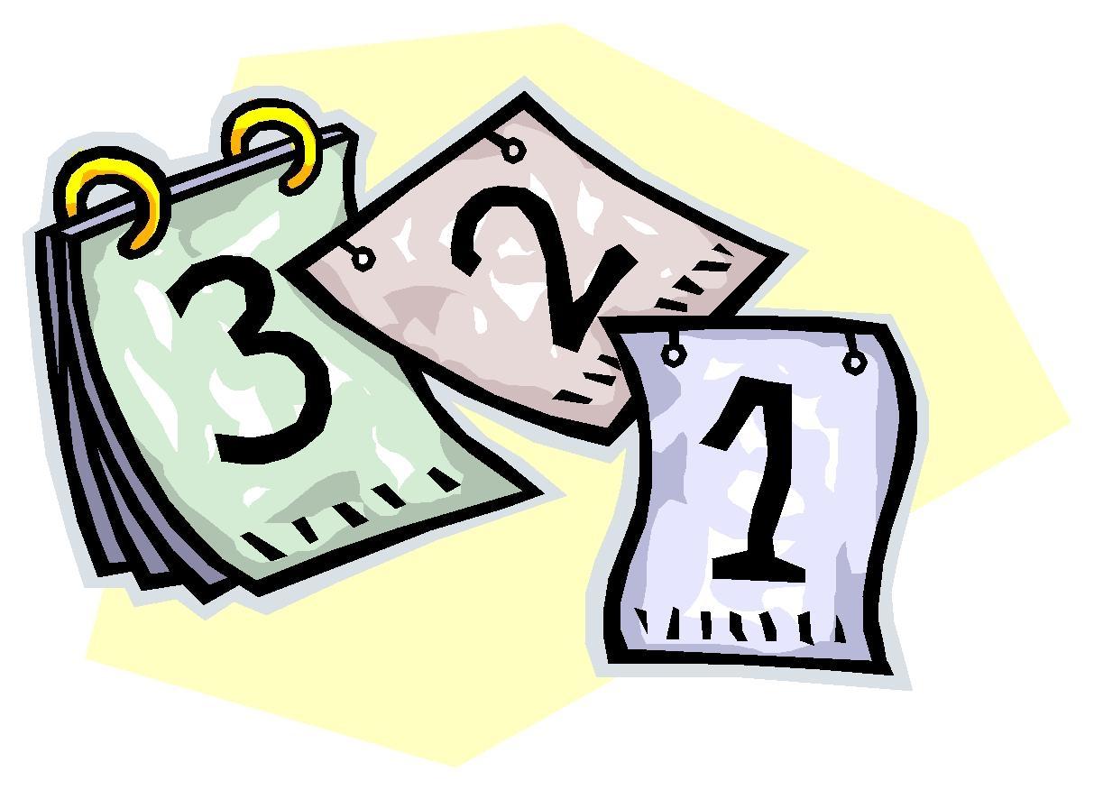 1 week calendar clipart clipart transparent Weekly Calendar Clipart | Jazz Gear clipart transparent