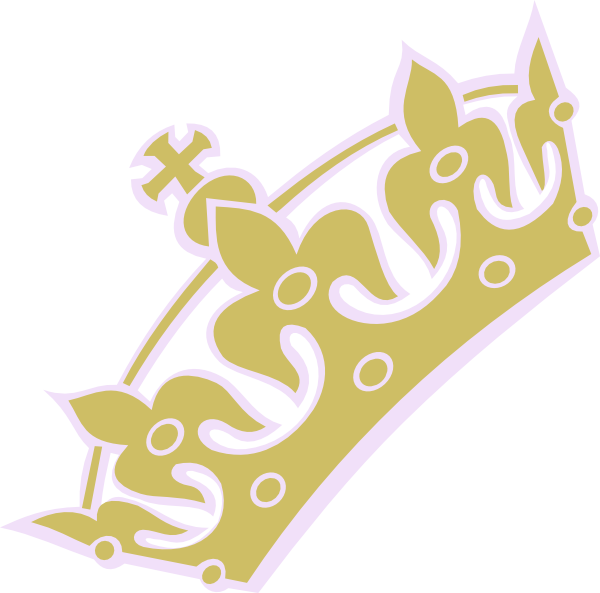 Gold lav tiara clip. Crown with princess clipart