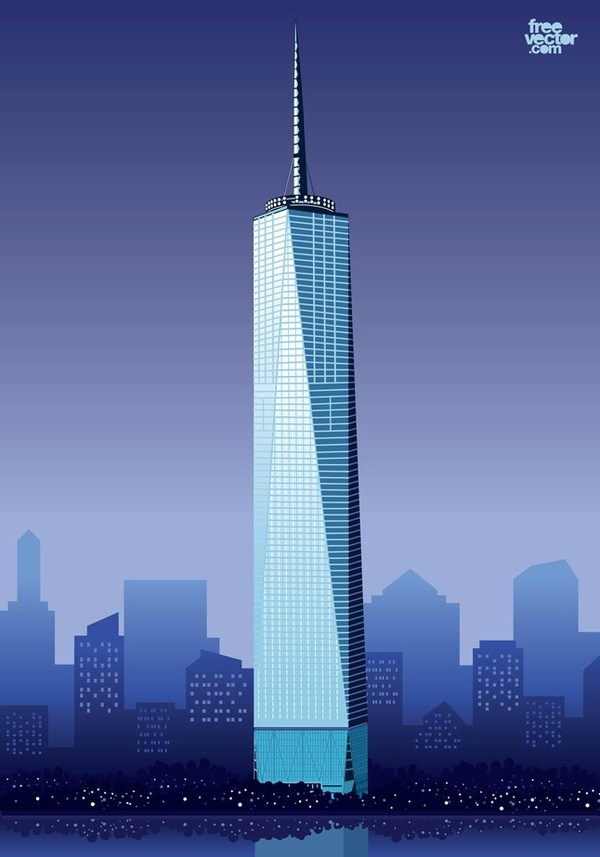 1 world trade center clipart png transparent download 30 Nyc Skyline Clipart Vectors   Download Free Vector Art & Graphics ... png transparent download