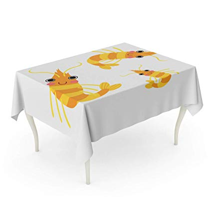 1 x 4 rectangle clipart jpg library Amazon.com: Semtomn Decorative Tablecloth Waterproof Printed ... jpg library