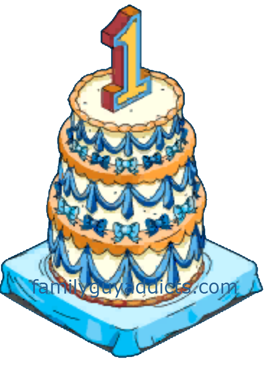 1 year anniversary cake clipart svg free stock HAPPY 1 YEAR CAKE AND CLAMS!!! | Family Guy Addicts svg free stock