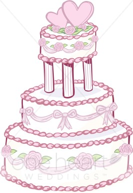 1 year anniversary cake clipart svg royalty free Rose Wedding Cake Clipart | Wedding Cake Clipart svg royalty free