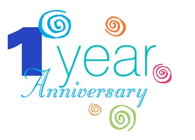 1 year anniversary celebration clipart - ClipartFest png black and white stock