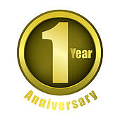 1 year anniversary celebration clipart.  clip art royalty
