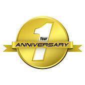 1 Year Anniversary Clip Art - Royalty Free - GoGraph vector library stock