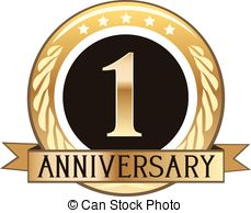1 year anniversary celebration clipart. One clipartfest badge