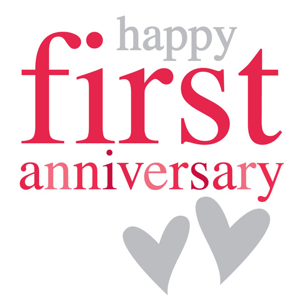 1 year anniversary celebration clipart clip library download One year wedding anniversary clipart - ClipartFest clip library download