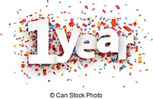 1 year anniversary celebration clipart picture library stock 1 year anniversary clip art - ClipartFest picture library stock