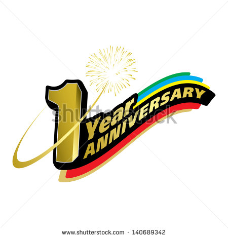 1 year anniversary celebration clipart.  stock images royalty