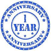 1 Year Anniversary Clip Art - Royalty Free - GoGraph image free download