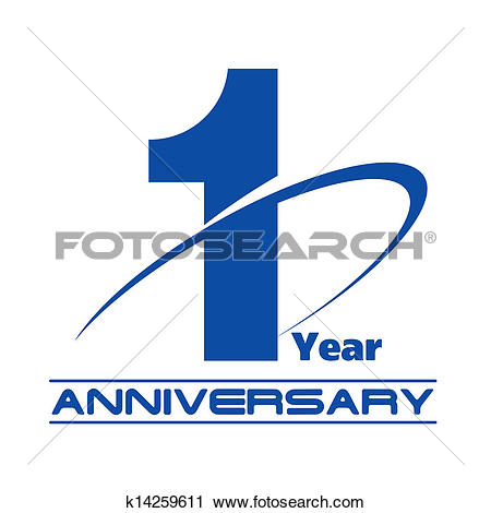 Clipart of creative concept. 1 year anniversary clip art