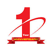 1 year anniversary clip art.  royalty free gograph
