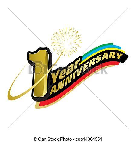 1 year anniversary Clipart Vector Graphics. 485 1 year anniversary ... jpg transparent