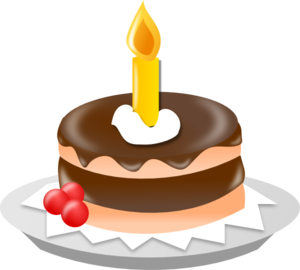 1 year cake clipart svg free Chocolate Cake With One Candle Clip Art at Clker.com - vector clip ... svg free