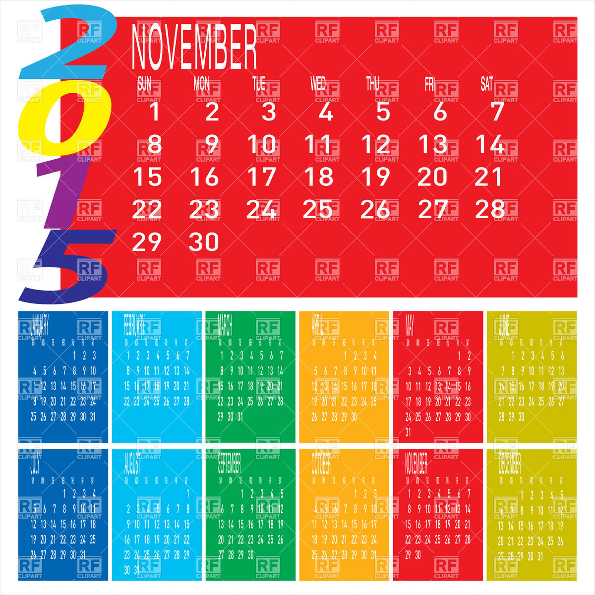1 year calender clipart vector free library August 2015 Calendar Clipart - Clipart Kid vector free library