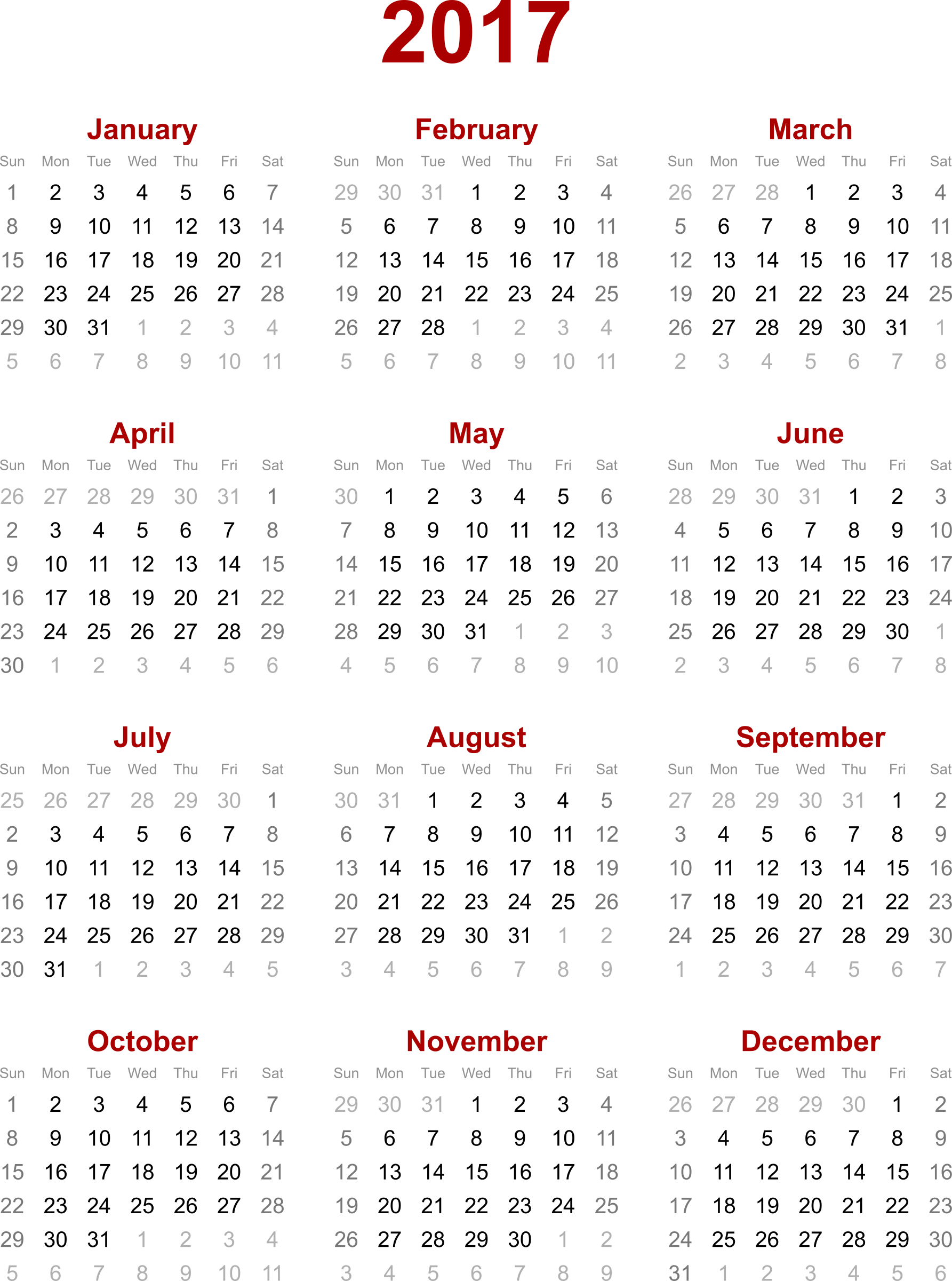 August clipart calendar png transparent stock Clipart - 2017 calendar png transparent stock