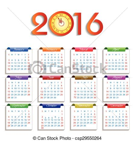 1 year calender clipart image transparent Yearly calendar clipart - ClipartFest image transparent