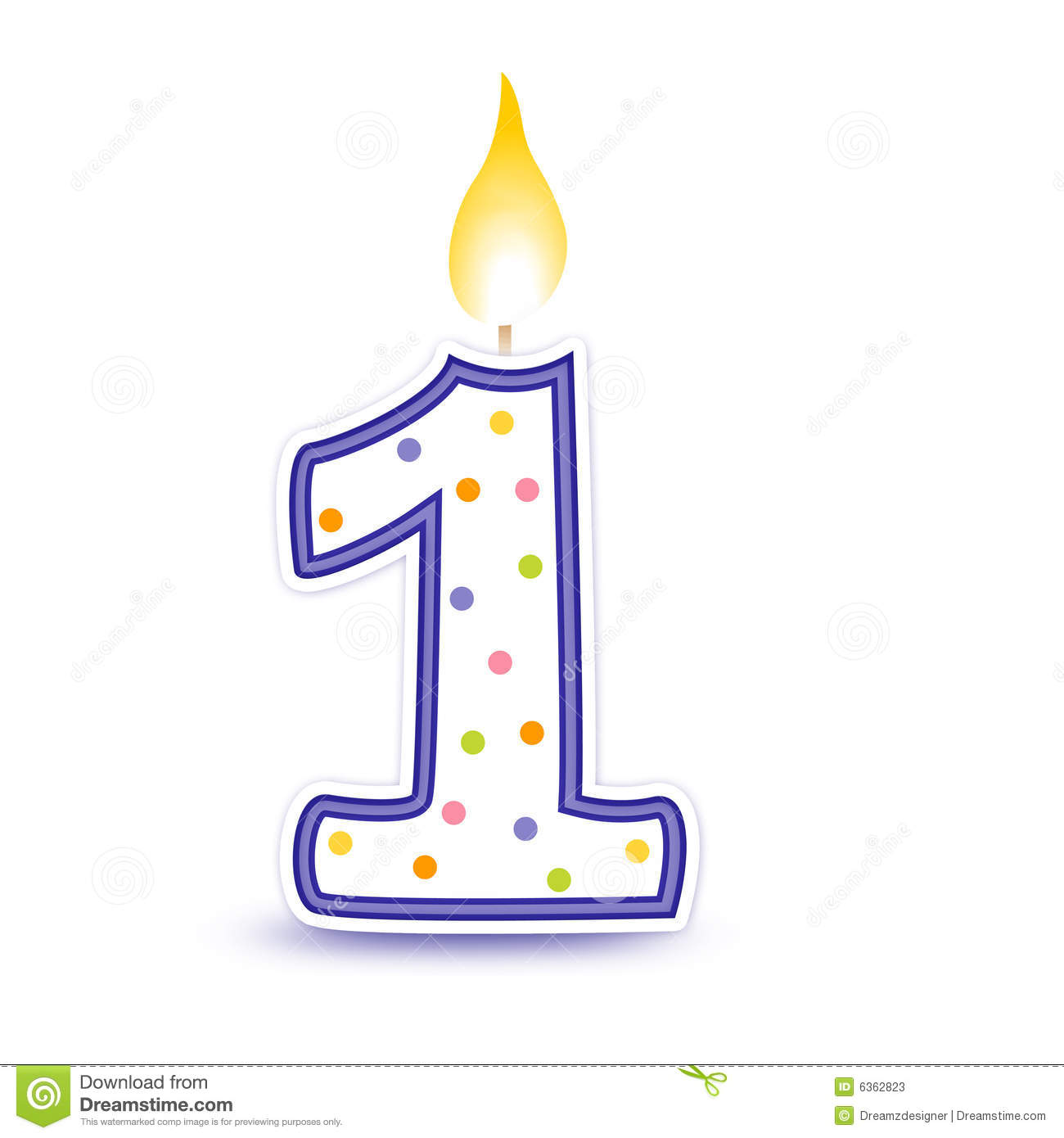 1 year candle clipart vector free stock 1 birthday candle jpg transparent library png files, Free CLip Art ... vector free stock