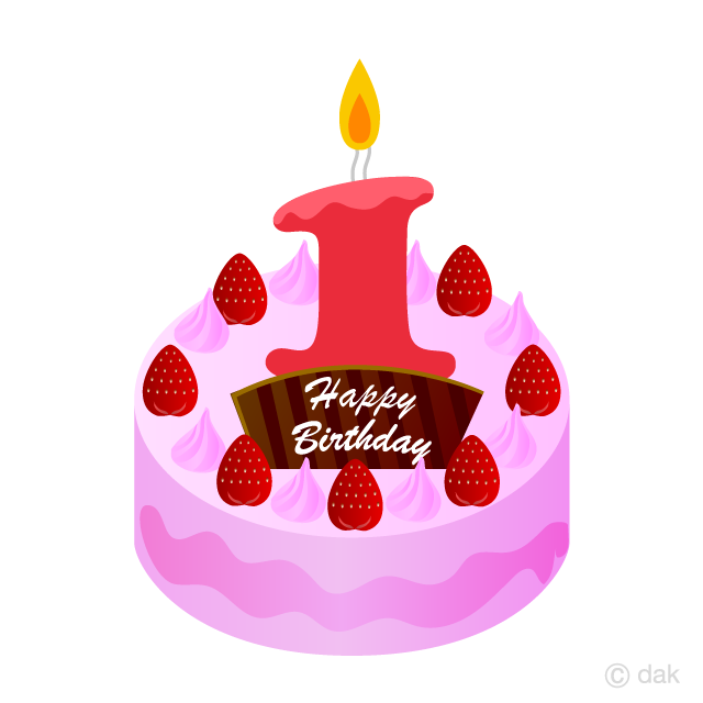 1 year candle clipart jpg royalty free 1 Years Old Candle Cake Clipart Free Picture|Illustoon jpg royalty free