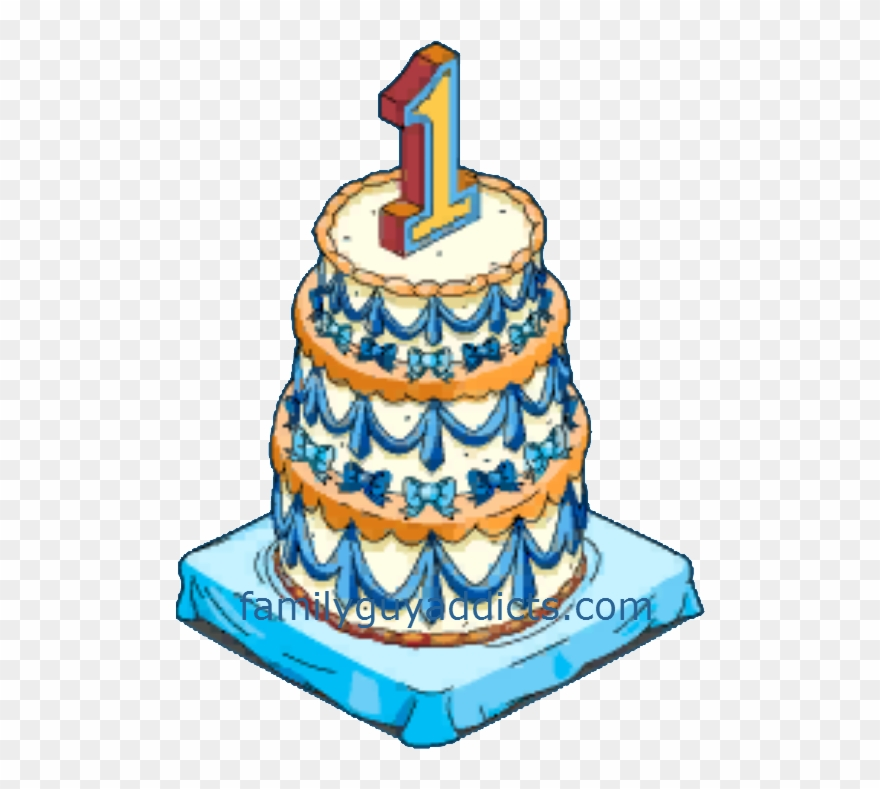 1 year candle clipart png freeuse download Happy Year And Clams Family Guy Addicts - Cake 1 Year With Candle ... png freeuse download