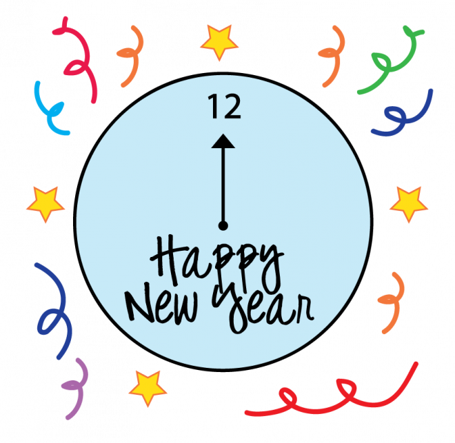 1 year clipart jpg transparent library Happy New Year Coloring Pages 2018 - Wish You A Very Happy New Year ... jpg transparent library