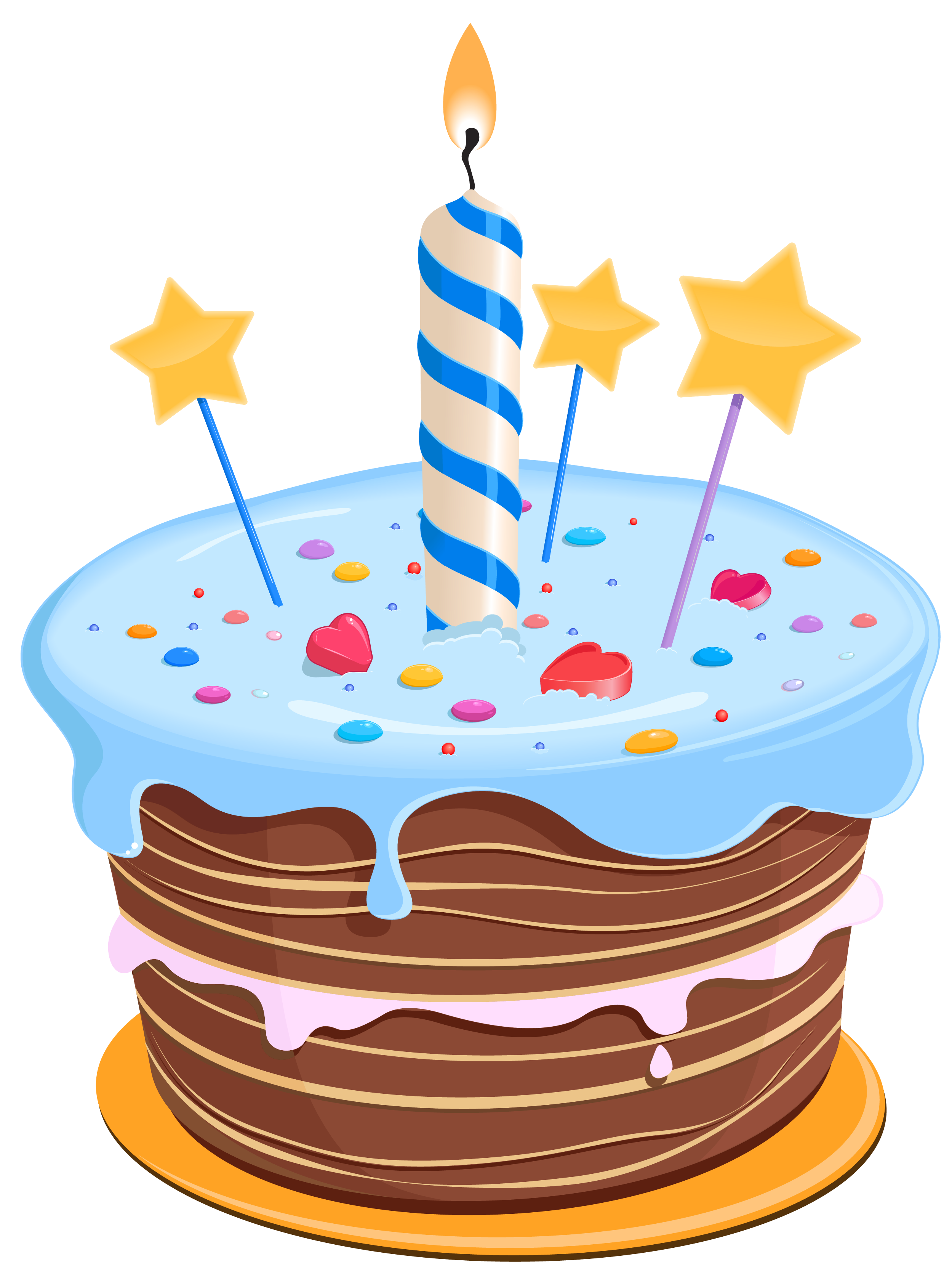 1st birthday cake clipart. Set these cute as