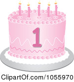 1 year old birthday cake clipart - ClipartFest vector royalty free stock