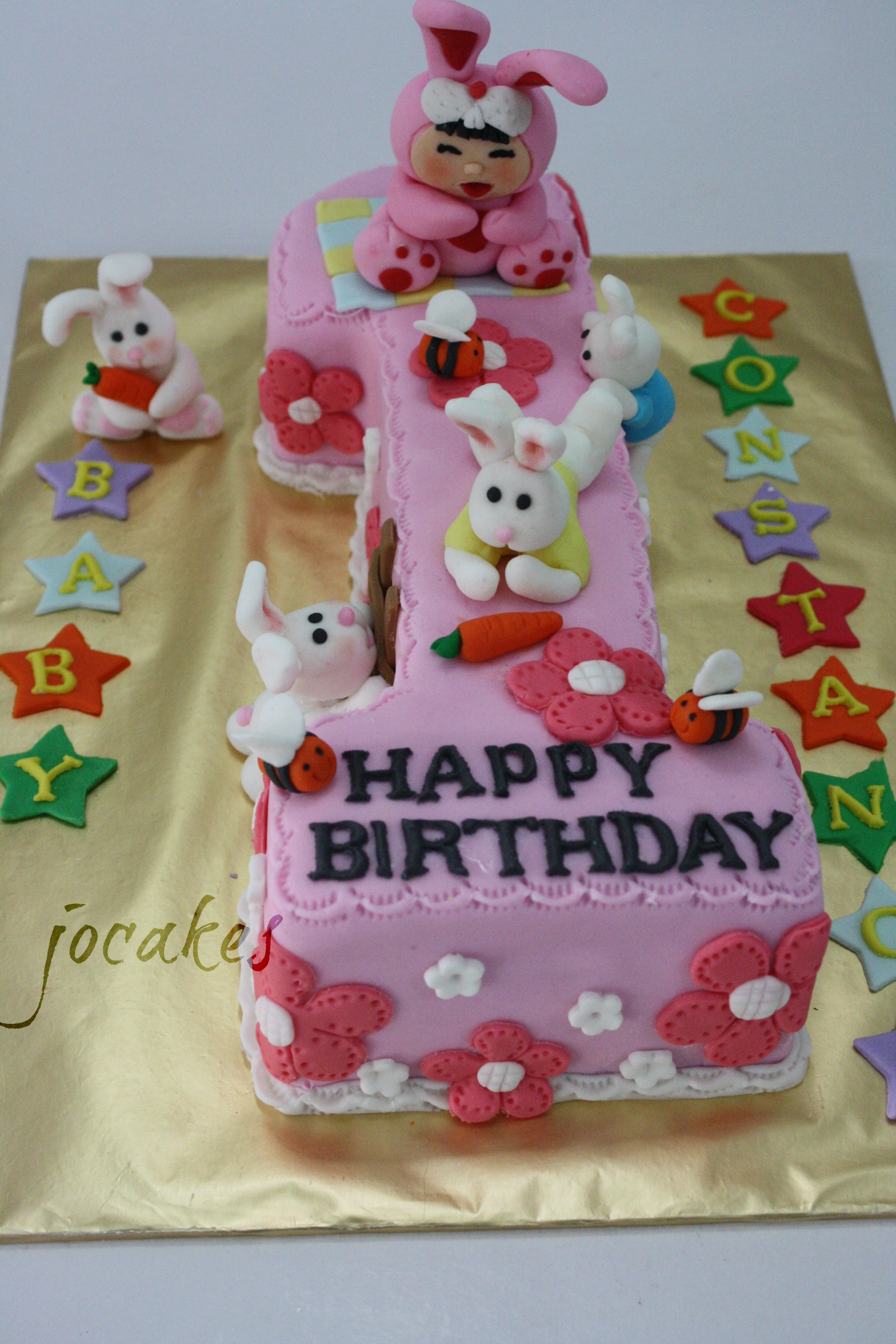 Clipart happy birthday cake one year old girl - ClipartFest image download