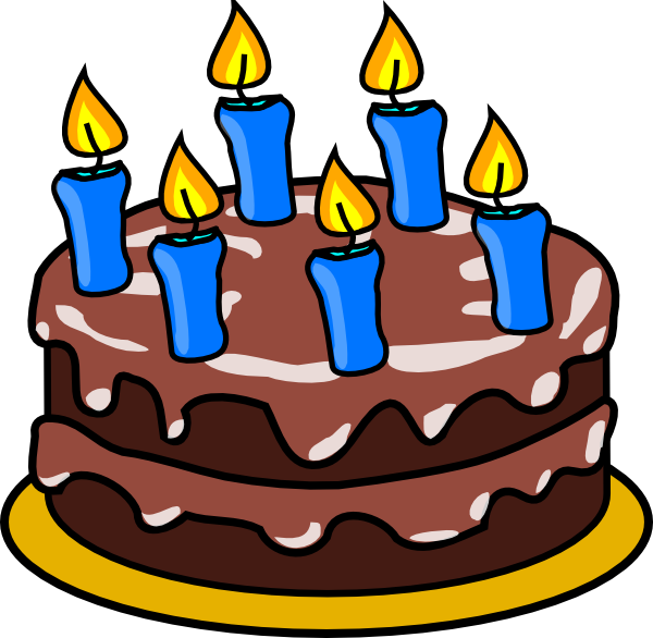 6 Years Birthday Cake Clip Art at Clker.com - vector clip art online ... image transparent stock