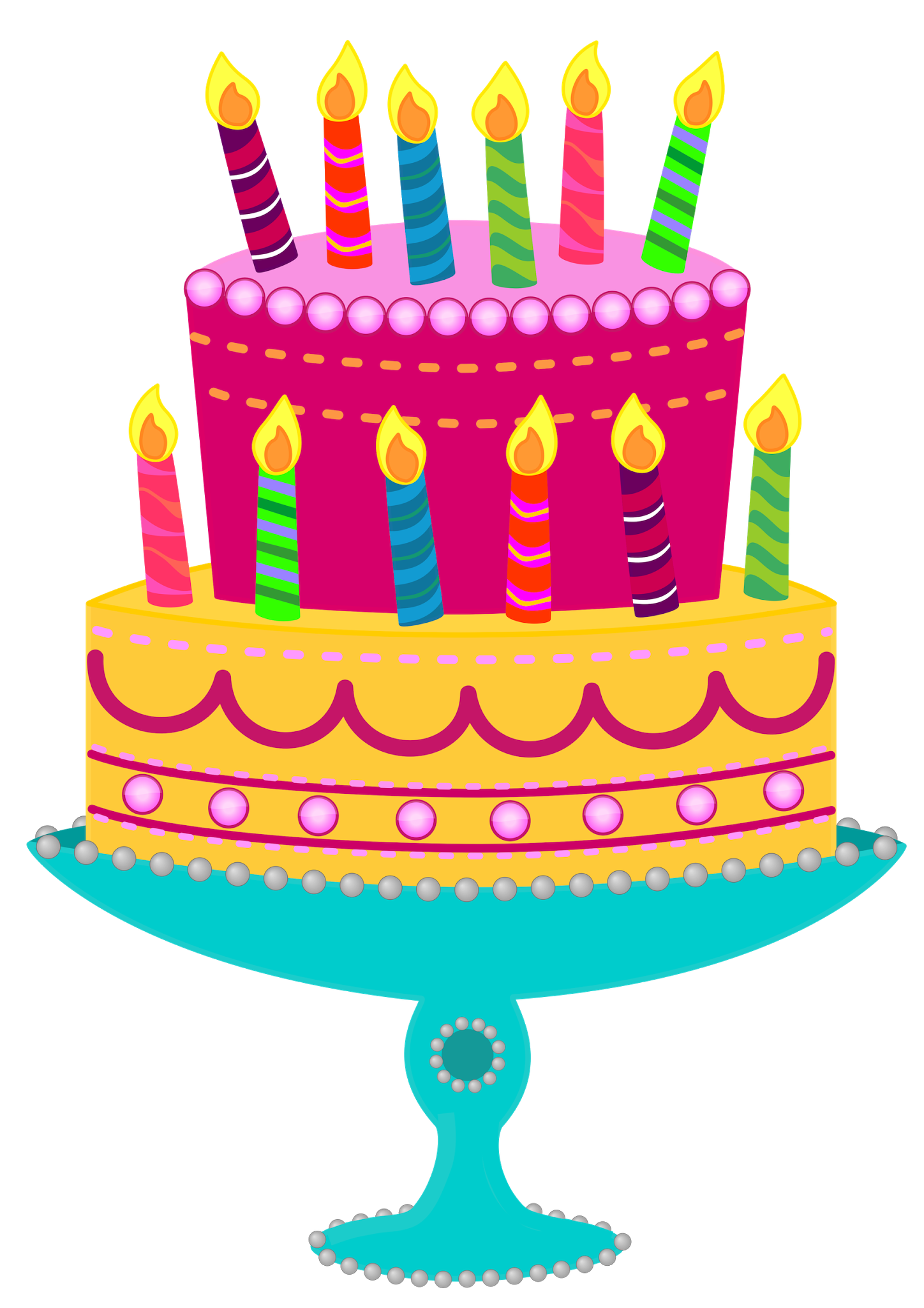 Free images cliparts co. Clipart birthday cake slice