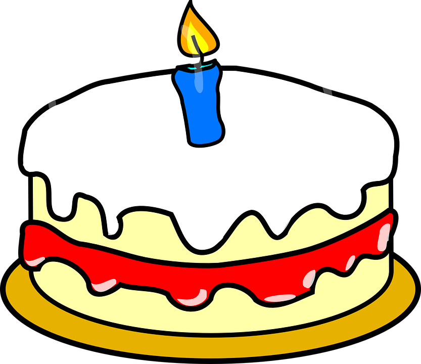 Birthday cake with candles for 11 year old boy clipart - ClipartFox clip art freeuse stock