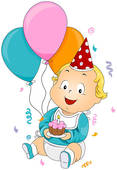One year old baby clipart - ClipartFest svg free download