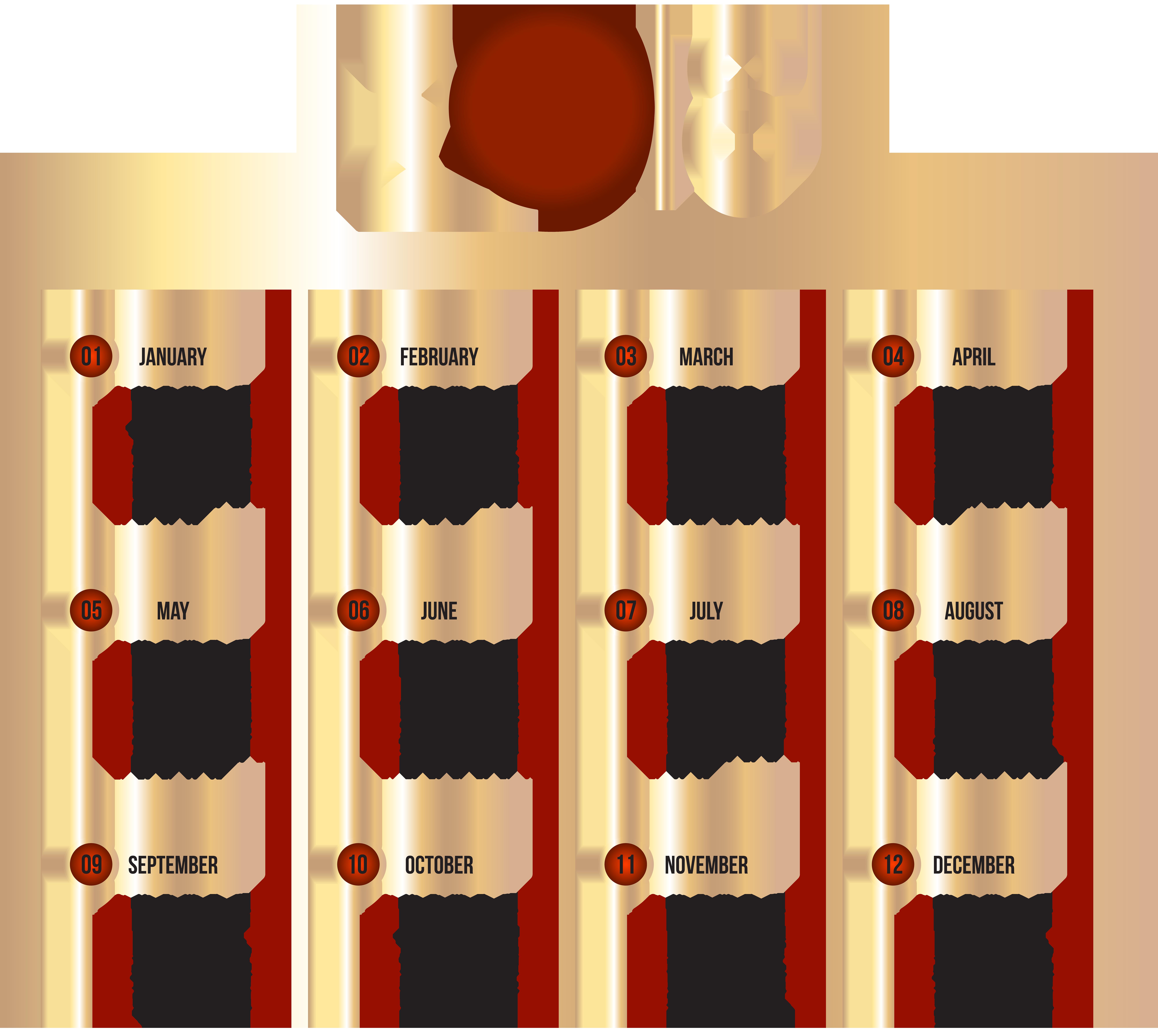 transparent clip art. Free clipart calendar 2018