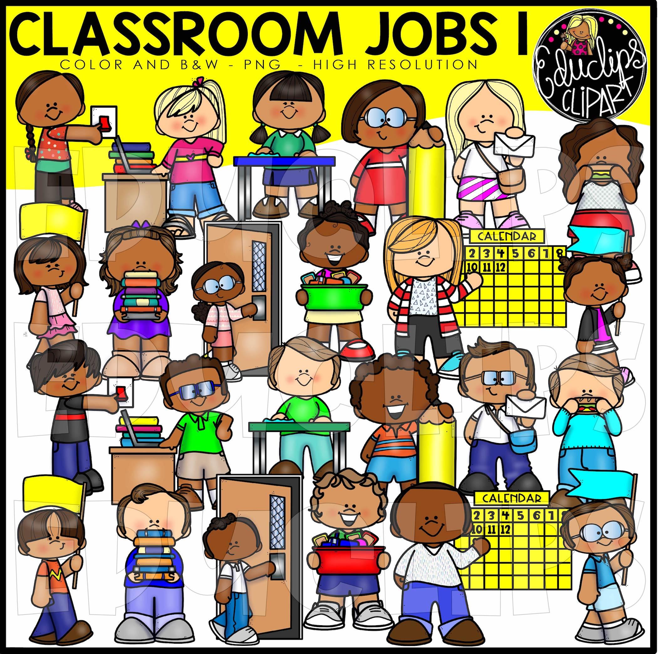 Table wiper job clipart png free Classroom Jobs 1 Clip Art Bundle (Color and B&W) png free