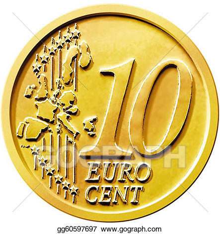 10 cent clipart svg free library Stock Illustration - Ten (10) cent euro coin. Clipart Drawing ... svg free library