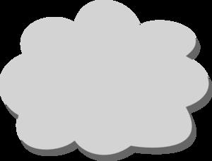 10 clipart cloud banner transparent download Gray Cloud Clip Art at Clker.com - vector clip art online, royalty ... banner transparent download