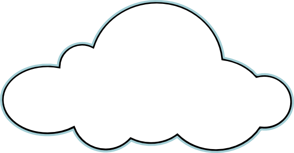 Clouds black and white clipart