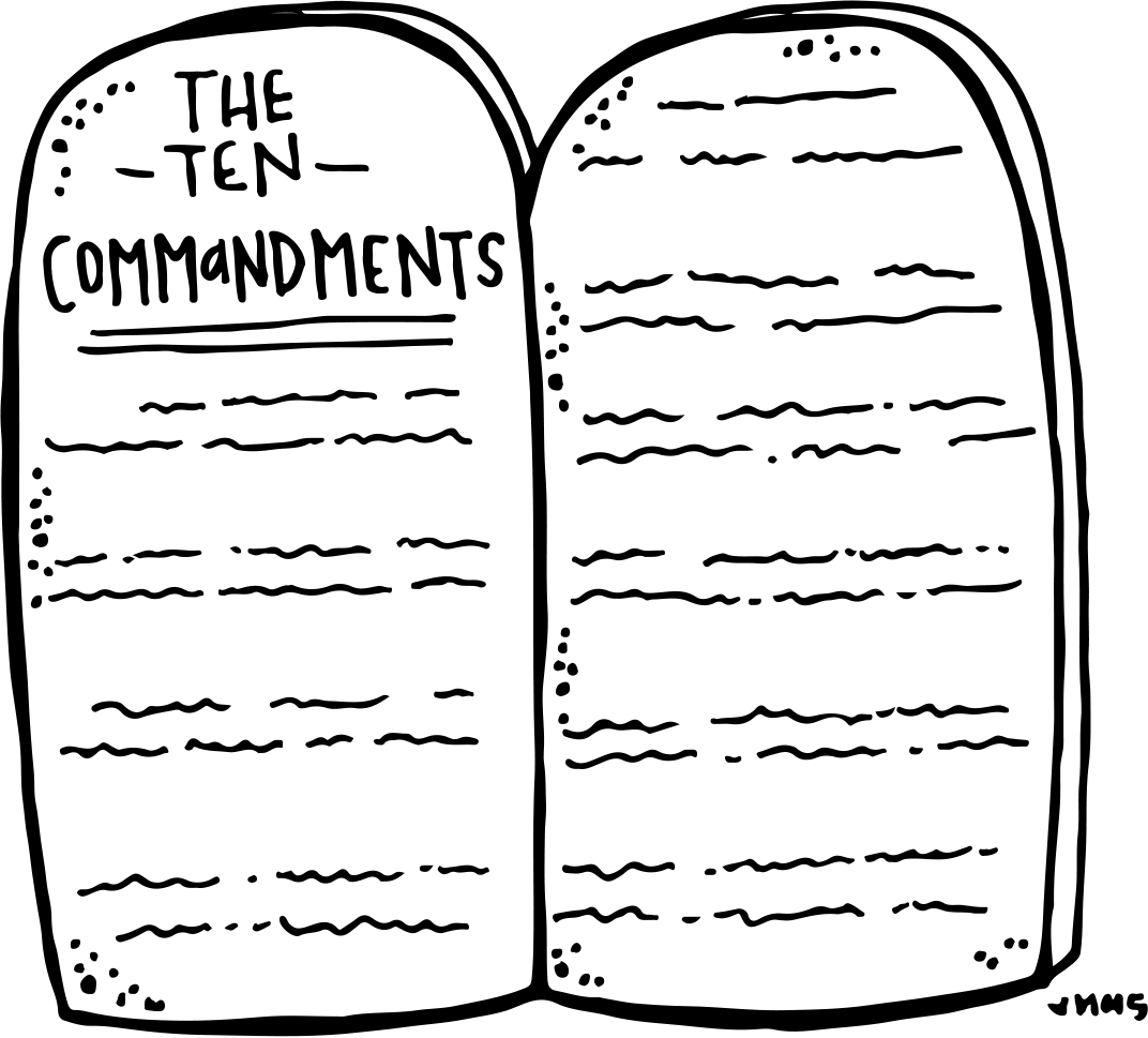 Catholic 10 commandments clipart graphic royalty free stock Melonheadz LDS illustrating: Ten Commandments Freebie :) | Coloring ... graphic royalty free stock