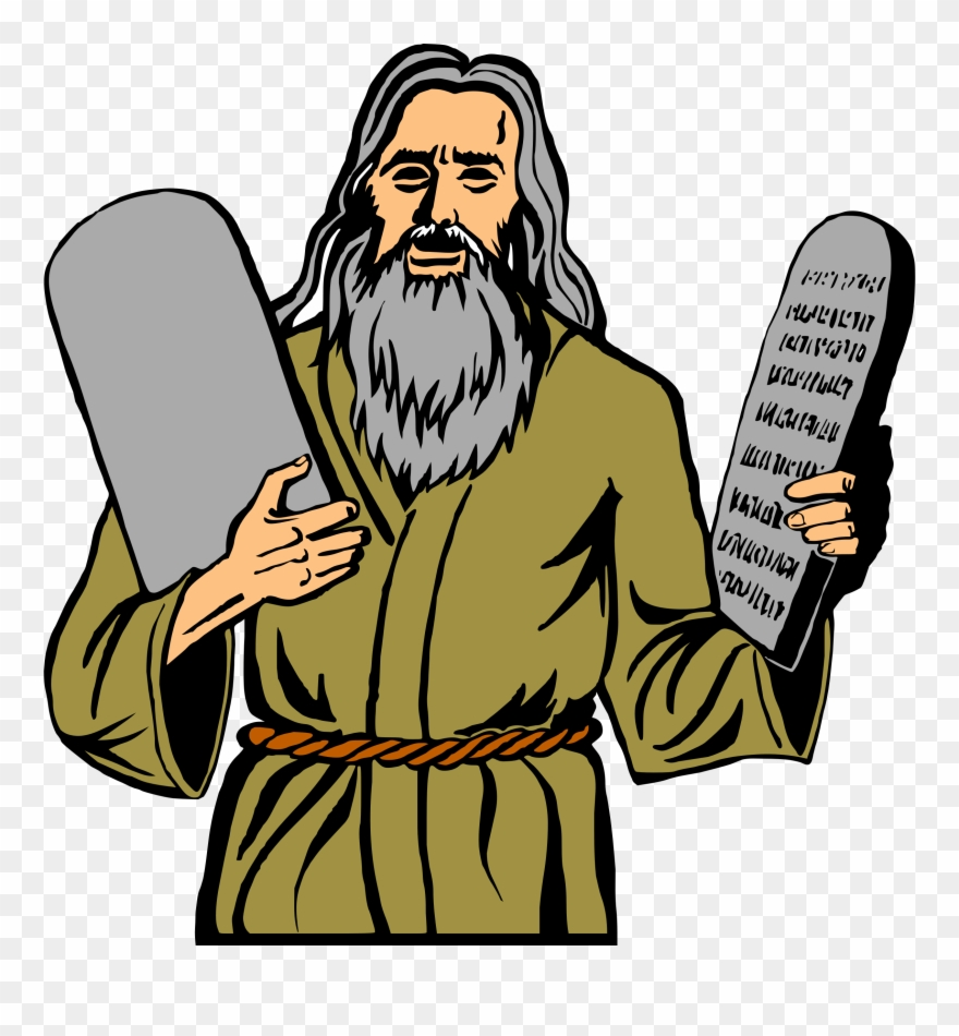 The 10 commandments clipart picture transparent Big Image - Moses 10 Commandments Clipart - Png Download (#499466 ... picture transparent